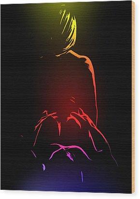 Ecstasy Wood Print by Steve K