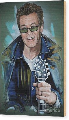 Eddie Van Halen Wood Print by Melanie D