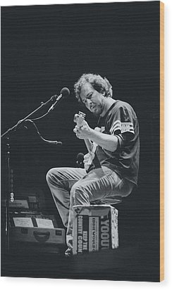 Eddie Vedder Playing Live Wood Print