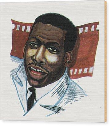 Eddy Murphy Wood Print by Emmanuel Baliyanga