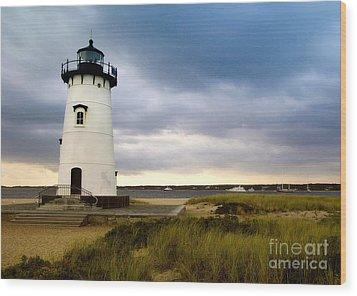 Edgartown Lighthouse Cape Cod Wood Print by Matt Suess
