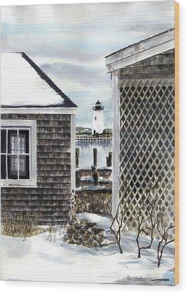 Edgartown Winter Wood Print by Paul Gardner