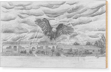Edgerton School Wood Print by Dean Herbert
