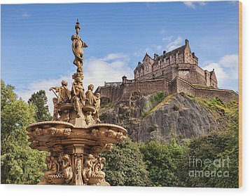 Wood Print featuring the photograph Edinburgh Castle by Colin and Linda McKie