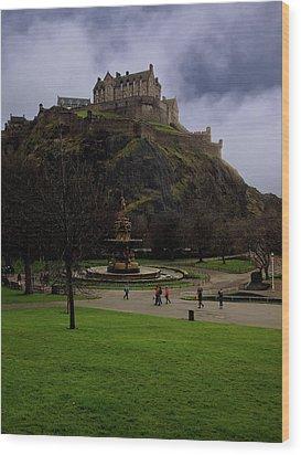 Edinburgh Castle Wood Print by Artistic Photos