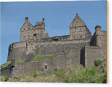 Wood Print featuring the photograph Edinburgh Castle by Jeremy Lavender Photography