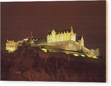 Edinburgh Castle Wood Print by Svetlana Sewell