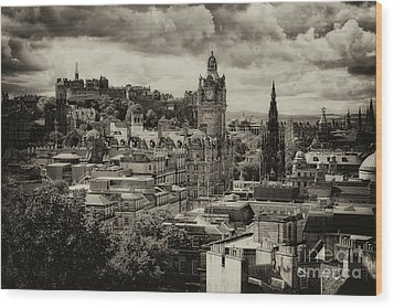 Wood Print featuring the photograph Edinburgh In Scotland by Jeremy Lavender Photography