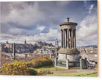 Wood Print featuring the photograph Edinburgh Skyline by Colin and Linda McKie