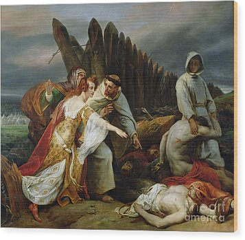 Edith Finding The Body Of Harold Wood Print by Emile Jean Horace Vernet