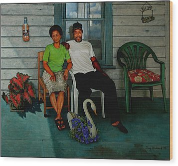 Edna And Sammy Of Johnston County Wood Print by Doug Strickland