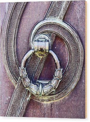 Wood Print featuring the photograph Edwardian Era Door Handle by Catherine Fenner