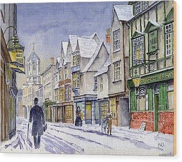 Edwardian St. Aldates. Oxford Uk Wood Print by Mike Lester
