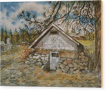 Edwards Root Cellar Wood Print