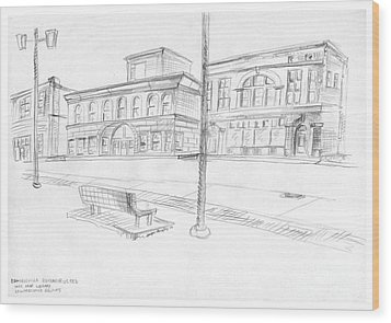 Edwardsville Reconstructed Wood Print by Joseph A Langley