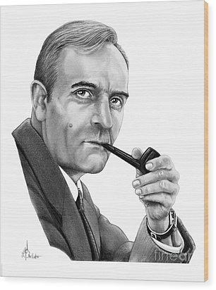 Edwin Hubble Wood Print by Murphy Elliott