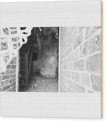 Eerie Look Inside The Martello Tower At Wood Print by Natalie Anne