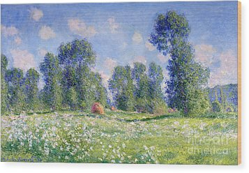 Effect Of Spring At Giverny Wood Print by Claude Monet