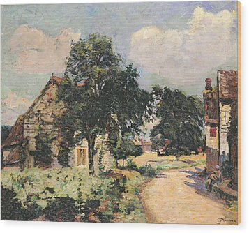 Effect Of The Sun Wood Print by Jean Baptiste Armand Guillaumin