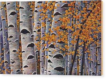 Effulgent October Wood Print