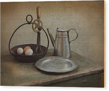 Egg Beaters Wood Print by Robin-Lee Vieira