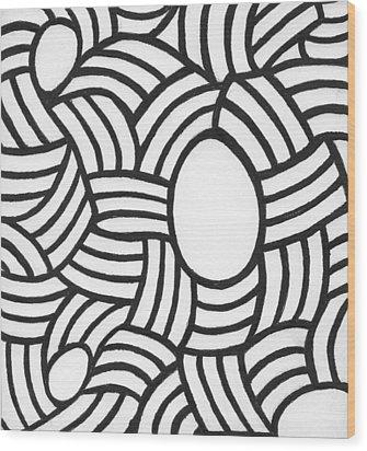 Egg Drawing Mm0308 Wood Print