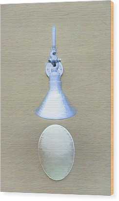 Wood Print featuring the photograph Egg Drop Lamp by Gary Slawsky