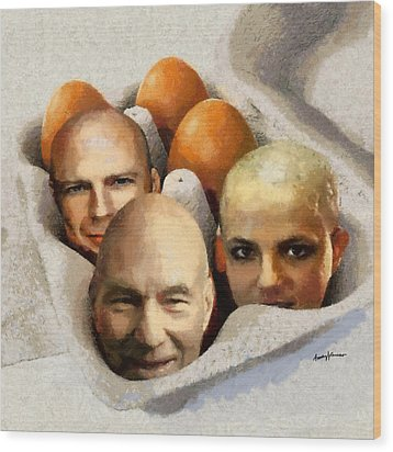 Eggheads Wood Print by Anthony Caruso