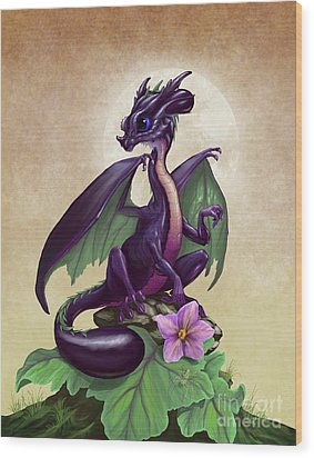 Eggplant Dragon Wood Print by Stanley Morrison