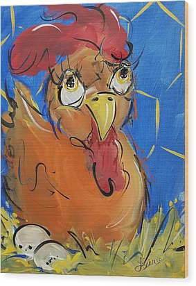Eggs For Breakfast Wood Print
