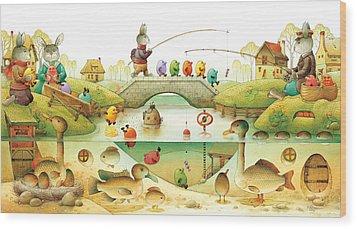 Eggstown Wood Print by Kestutis Kasparavicius