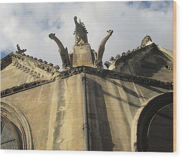 Wood Print featuring the photograph Eglise Saint-severin, Paris by Christopher Kirby
