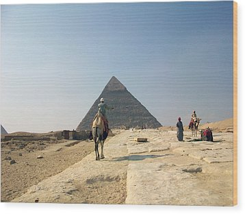 Egypt - Pyramid3 Wood Print by Munir Alawi