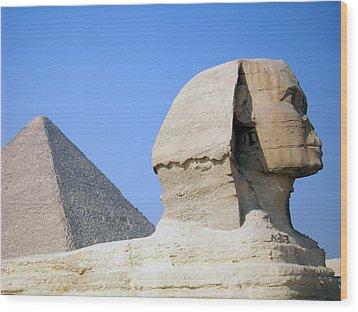 Egypt - Pyramids Abu Alhaul Wood Print by Munir Alawi