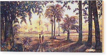 Egypt Wood Print by Norma Boeckler