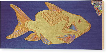 Egyptian Fish Wood Print by Bob Coonts