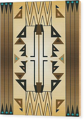 Egyptian Moderne Wood Print by Tara Hutton