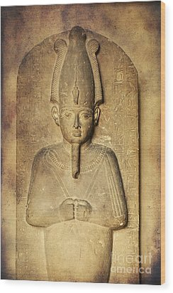 Egyptian Pharaoh. Wood Print