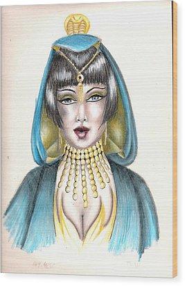 Egyptian Princess Wood Print by Scarlett Royal