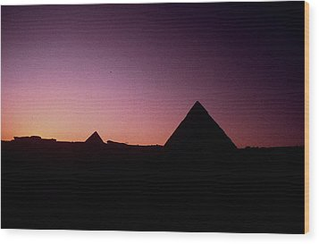 Wood Print featuring the photograph Egyptian Sunset by Gary Wonning