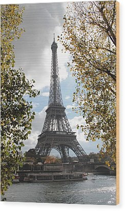 Wood Print featuring the photograph Eiffel From Avenue De New York by Christopher Kirby