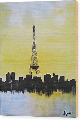 Wood Print featuring the painting Eiffel Of Paris by Gary Smith