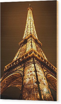 Eiffel Wood Print by Skip Hunt