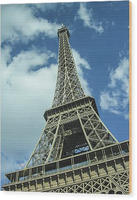 Wood Print featuring the photograph Eiffel Tower by Allen Sheffield