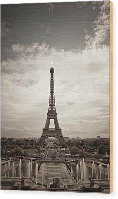 Eiffel Tower Wood Print by Ei Katsumata