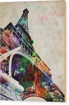 Eiffel Tower Wood Print by Michael Tompsett