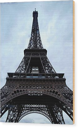 Wood Print featuring the photograph Eiffel Tower by Nancy Bradley