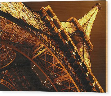Eiffel Tower Paris France Wood Print by Gene Sizemore
