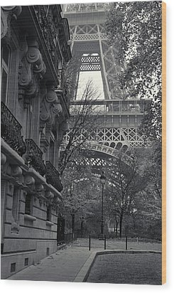Eiffel Tower Wood Print by Richard Goodrich
