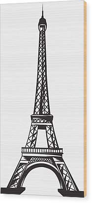 Eiffel Tower Up Wood Print by Stanley Mathis